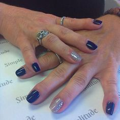 Navy and glitter! You just can't go wrong!