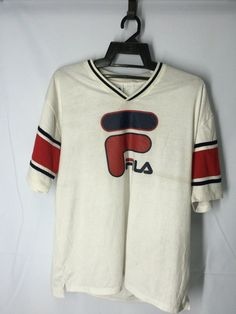 Fila Sport Mens Shirt Large Fila Italy Mens Shirt fila Tennis Sport T Shirt Men's Size L by MudeanDean