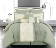 Imperial Sage Green 8 Piece Comforter Set with Decorative Pillows, http://www.amazon.com/dp/B00HTENG74/ref=cm_sw_r_pi_awdm_WA1jtb1WVY2M1
