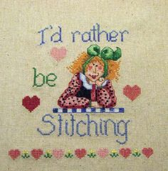 i'd rather be stitching http://rssnichefeed.com/cross-stitch/index.php
