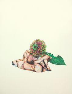 "Joe Sinness, ""Daisy Chain,"" Colored Pencil on Paper, 2011"