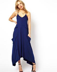 ASOS | ASOS Maxi Dress With Drape Pockets at ASOS