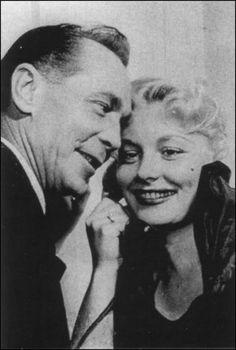 Barbara Payton and husband Franchot Tone
