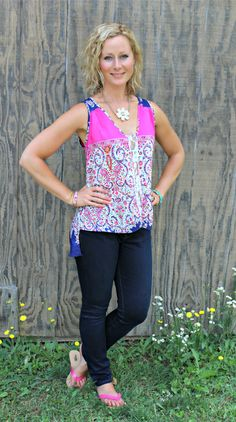 LOVE THESE COLORS!!! Renee C Napson Lace Panel Blouse #stitchfix #primallyinspired  https://www.stitchfix.com/referral/5026297