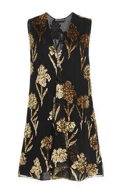 Velvet Embellished Shift Dress by ROCHAS for Preorder on Moda Operandi