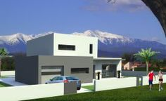 Plan Maison contemporaine Pyrénées-Orientales (66). Plan Villa contemporaine de 124 m2 habitables - Zénith Construction