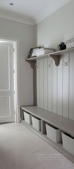At Noel Dempsey Design we are experts in Traditional, Contemporary and Fitted Kitchens. Boot Room Storage, Coat Storage, Hallway Storage, Laundry Room Storage, Laundry Room Design, Boot Room Utility, Utility Room Designs, Laundry Room Remodel, Small Room Bedroom