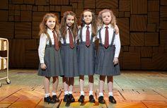 Matilda the Musical on Broadway.       The 4 original Matildas broadway.