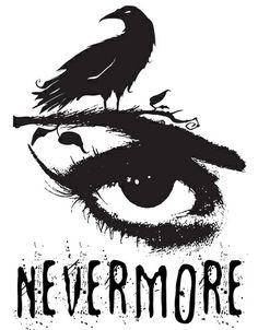 Edgar Allan Poe Inspired Design - The Raven Nevermore Art Print