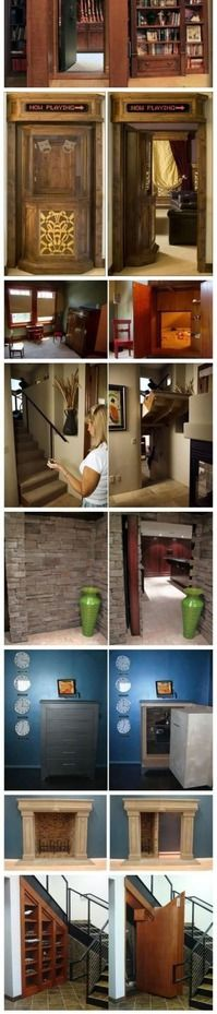 Houses with secret doors… I want one sooooo bad!!