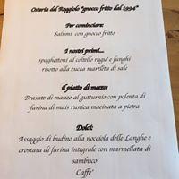 Una cena al Roggiolo ora Osteria Slow Food