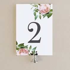 Table Numbers Template - DIY Printable    Instant DOWNLOAD   Vintage Botanical   Flat 5x7   Editable Colors   Mac or PC   Word & Pages