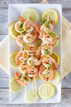 Easy Lemon Shrimp Kabob Recipe