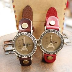 France Tower cowhide couple watches