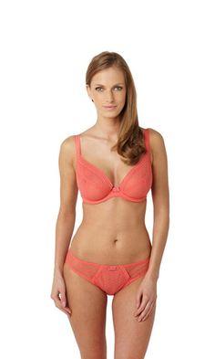 Panache Lingerie Fontaine Coral Plunge Bra - Dahlia's Boudoir Boutique | Dahlia's - Lingerie, Bra & Swimwear Fitting Shop
