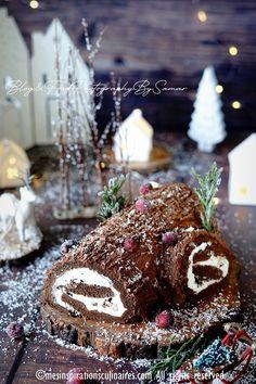 gateau roulé de noël au chocolat