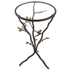 Shop 'Glass Bird' Metal End Table - Overstock - 7910653 Metal End Tables, Sofa End Tables, Glass Birds, Spring Home, Clear Glass, Home And Garden, Bronze, Coffee, Design