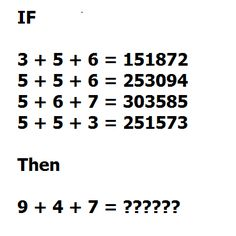 Maths puzzle, can you solve it? Answer: http://www.iqcatch.com/frontend/home/page/Puzzle-ANS-2