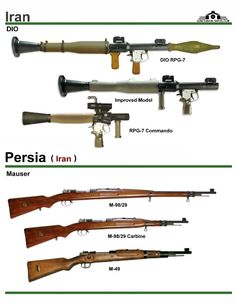 Иран: DIO RPG-7, Mauser M-98-29, Mauser M-49 (Tiny RPG 7?)
