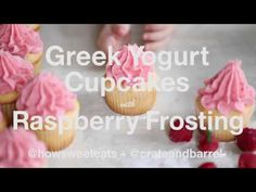 Raspberry Greek Yogurt Cupcakes.  Switch out Cup4Cup.