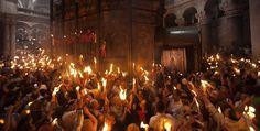 Miles en Jerusalén para ceremonia de Fuego Sagrado
