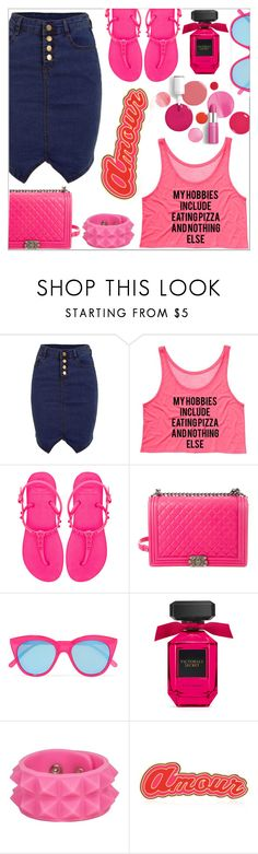 """Eating pizza.... And nothing else"" by simona-altobelli ❤ liked on Polyvore featuring Havaianas, Chanel, Le Specs, Clinique and Maria Francesca Pepe"