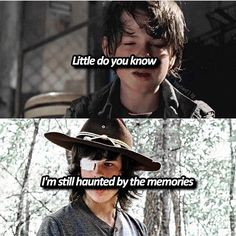 """#TheWalkingDead  Carl Grimes(Chandler Riggs)  """"Little do you know, I'm still haunted by the memories"""""""