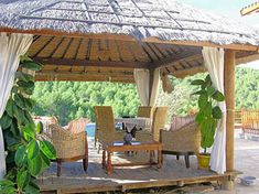 Thatched Roofing For Gazebos And Sheds, Gorgeous Backyard Designs