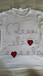 Phatufa: T-Shirt com aplicações em feltro - Corações