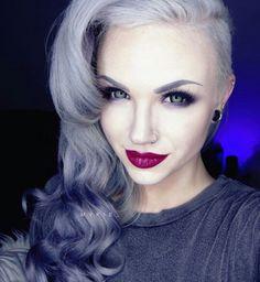 [ #sidecut #hairstyle #pastelhair #purplehair #hairdye ]