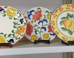 Prato Decorativo Cerâmica (sobremesa)