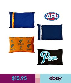 6b60583e38a Pillow Cases Afl Football Footy Licensed Standard Pillowcase 48Cm X 73Cm   ebay  Home  amp