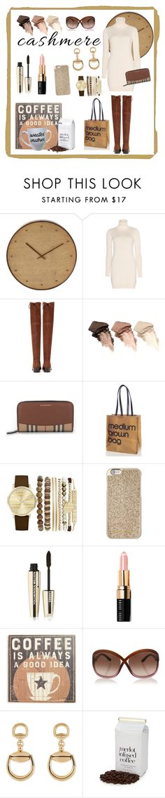 """Coffee Time ☕️"" by klm62 ❤ liked on Polyvore featuring WALL, Loro Piana, Stuart Weitzman, Urban Decay, Burberry, Bloomingdale's, Jessica Carlyle, Michael Kors, L'Oréal Paris and Bobbi Brown Cosmetics"