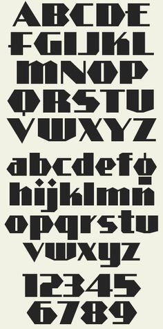 Art Deco style inspired by signpainter Alf R. Includes lowercase letters in 3 styles: Regular, Shadow & Outline. Graffiti Lettering Fonts, Hand Lettering Alphabet, Creative Lettering, Lettering Styles, Typography Letters, Letras Abcd, Letras Tattoo, Deco Font, Art Deco