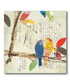 Another great find on #zulily! Love Bird I Wrapped Canvas #zulilyfinds