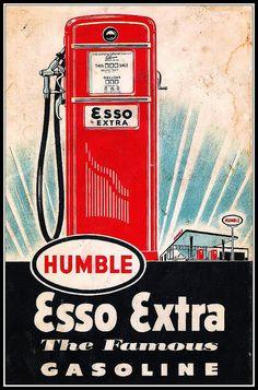 Esso Extra -  Gasoline - vintage - ad