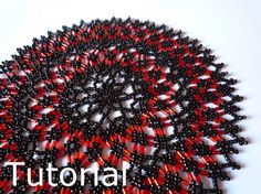 Star Doily Beadwork Pattern/Tutorial  Instant by BearlyBeaded