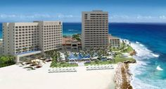 Hyatt Ziva Cancun Canc�n This stunning beachfront resort is set on the beautiful strip of Punta Cancun and framed by the Caribbean Sea, where you can enjoy a white sand beach and clear-blue waters.