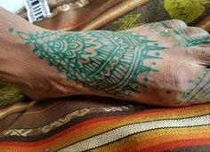 Green #Henna . Foot . Renegade #freehand #temporary #tattoo #bodyart #painless Henna Body Art, Hand Henna, Temporary Tattoo, Hand Tattoos, Hands, Green, Temp Tattoo, Make Fake Tattoos, Arm Tattoos