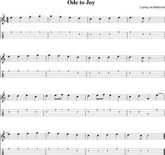 Ode to Joy Mandolin Tab