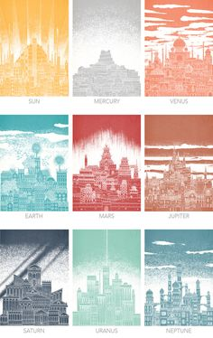 Celestial Cities: 9 Intricate Illustrations of Imagined Cities