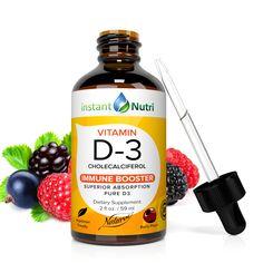 Vitamin D3 | Instant nutri Vitamin D, Drink Bottles, Berries, Vegetarian, Pure Products, Drinks, Food, Drinking, Beverages