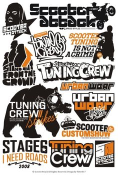 Scooter Attack Logos by Filter017 , via Behance