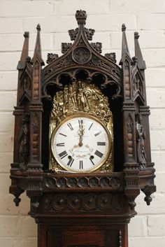 Gothic Grandfather clock - Grandfather clocks - Houtroos