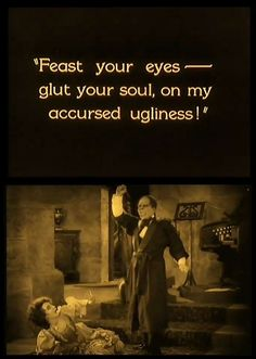 Lon Chaney & Mary Philbin in The Phantom of the Opera (1925, dir. Rupert Julian)