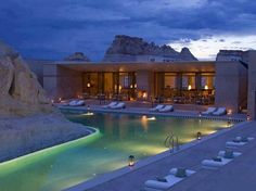Luxury resort in Utah built into the surrounding boulders and landscape. An unreal spa. Luxury Lake Powell Resort Photos - Amangiri Resort and Spa Lake Powell, Amangiri Resort Utah, Amangiri Hotel, Vacation Destinations, Dream Vacations, Vacation Spots, Vacation Ideas, Vacation Packages, Vacation Travel