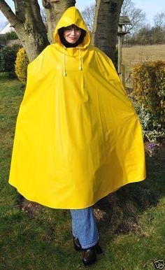 Yellow pvc cape