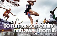 To run for something not away from it. #fitness #motivation #juliomedina #p90x #workout #shakeology