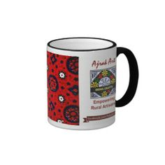 Ajrak Art Mugs - 02: click on the source link to buy this amazing piece of Art and show your love for tradition. Proceeds will be contributed to #IndusCrafts to help marginalized rural women artisans.