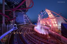 Project Harmony of the seas Aqua Theatre by Robos Contract Furniture #cruise #cruisefurniture #roboscontractfurniture #harmonyoftheseas